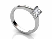 Radiant Diamond Ring SPAF06