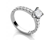 Pear Diamond Ring SPAF02