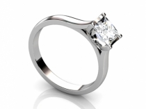 Ring SPAP48  profile view solitaire